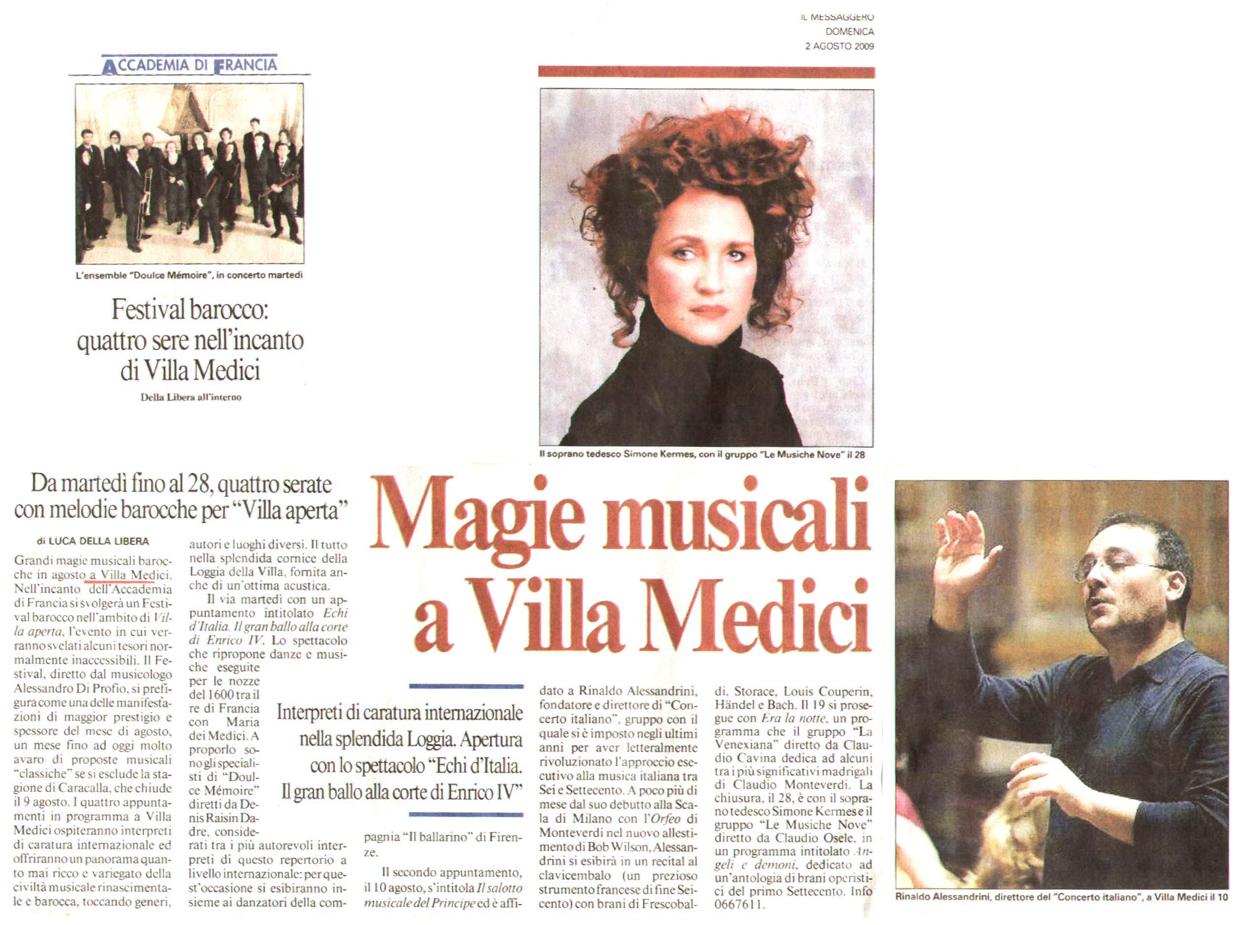 Villa Medici Menu